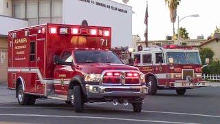 Alhambra Fire Dept. Engine 771 & RA71