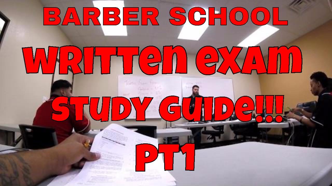 barber school state baord study guide pt 1 youtube rh youtube com