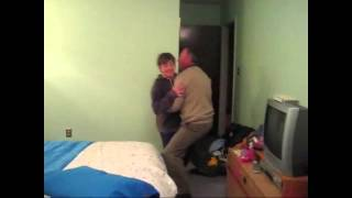 [graphic] Nerdy White Kid Gets Abused By Father