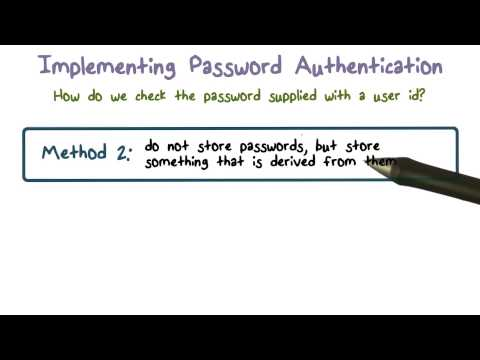 Implementing Password Authentication