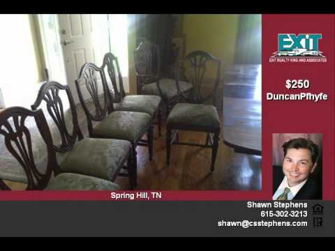 Antique Duncan Phyfe Mahogany Dining Table and 6 Chairs