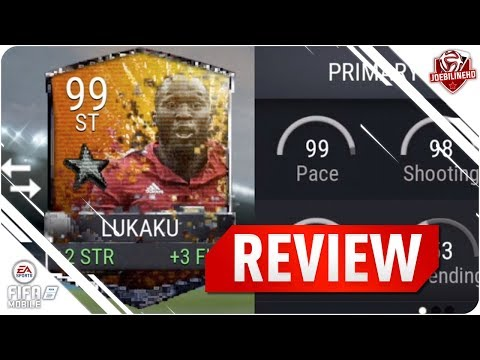 FIFA MOBILE 99 RETRO LUKAKU REVIEW #FIFAMOBILE 99 ST RETRO STAR LUKAKU PLAYER REVIEW GAMEPLAY STATS