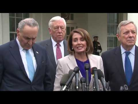 Nancy Pelosi & Chuck Schumer Press Conference After Meeting With President Trump 1/4/19