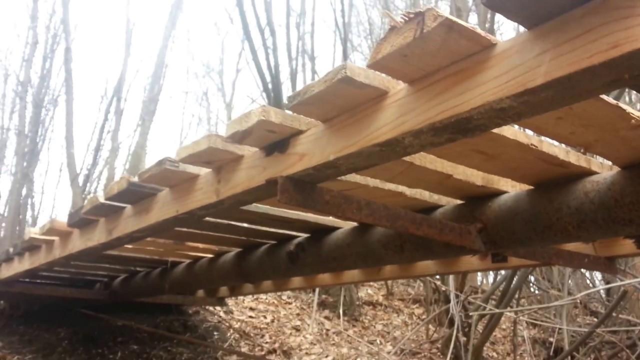 Как сделать мостки на реке