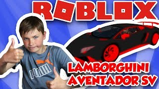 MY NEW AWESOME LAMBORGHINI AVENTADOR SV in ROBLOX VEHICLE SIMULATOR (fr) COURSES DE DRAG (FR) STUNTS CAR