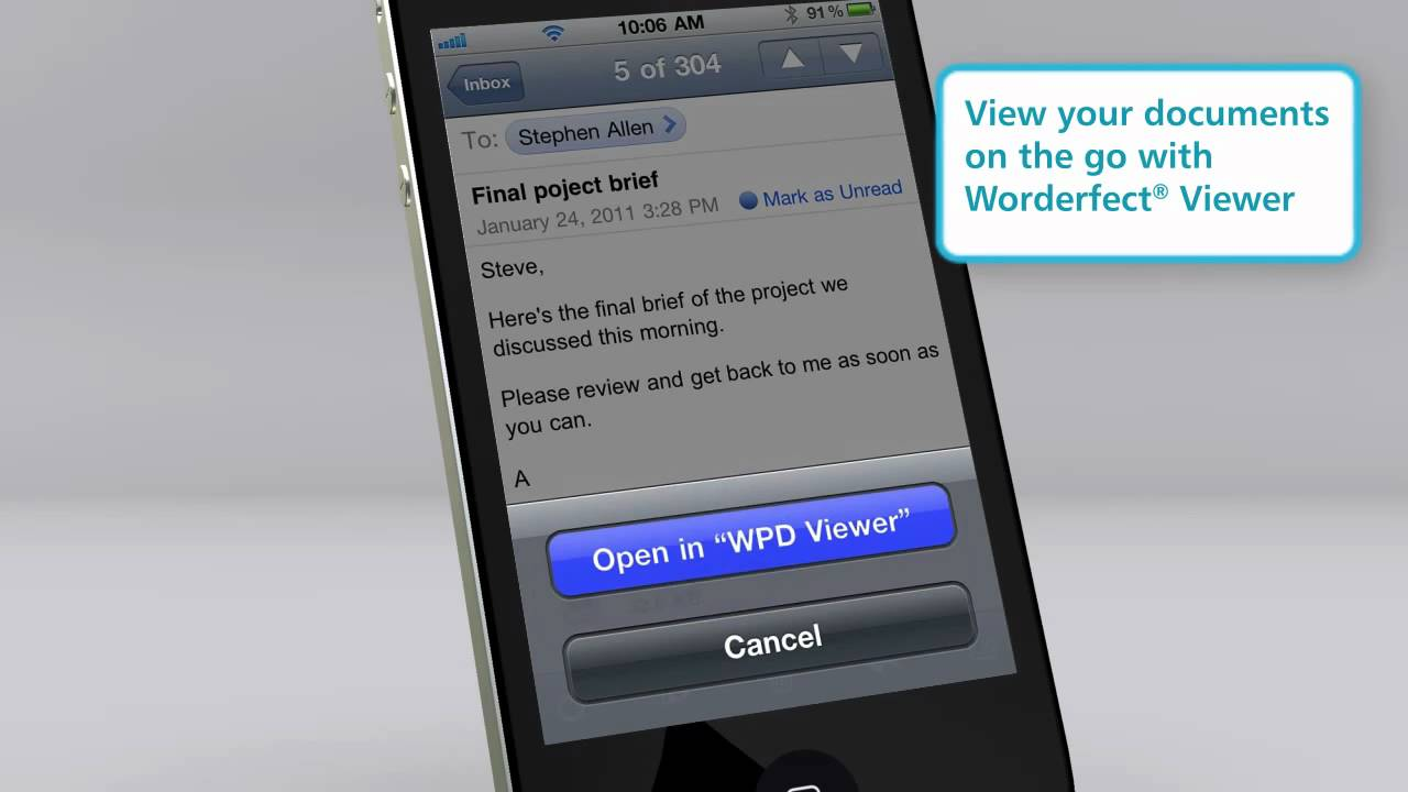 WordPerfect Viewer for iPhone and iPad - YouTube