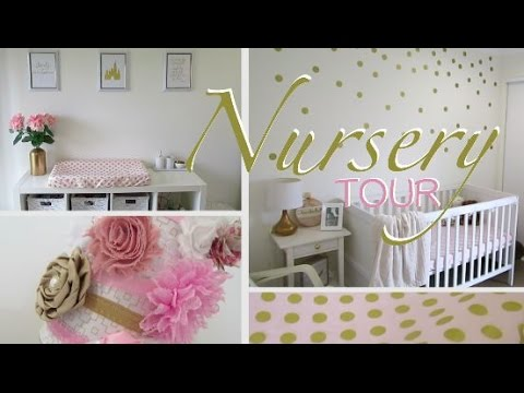 Nursery Tour Gold C Pink White Overview