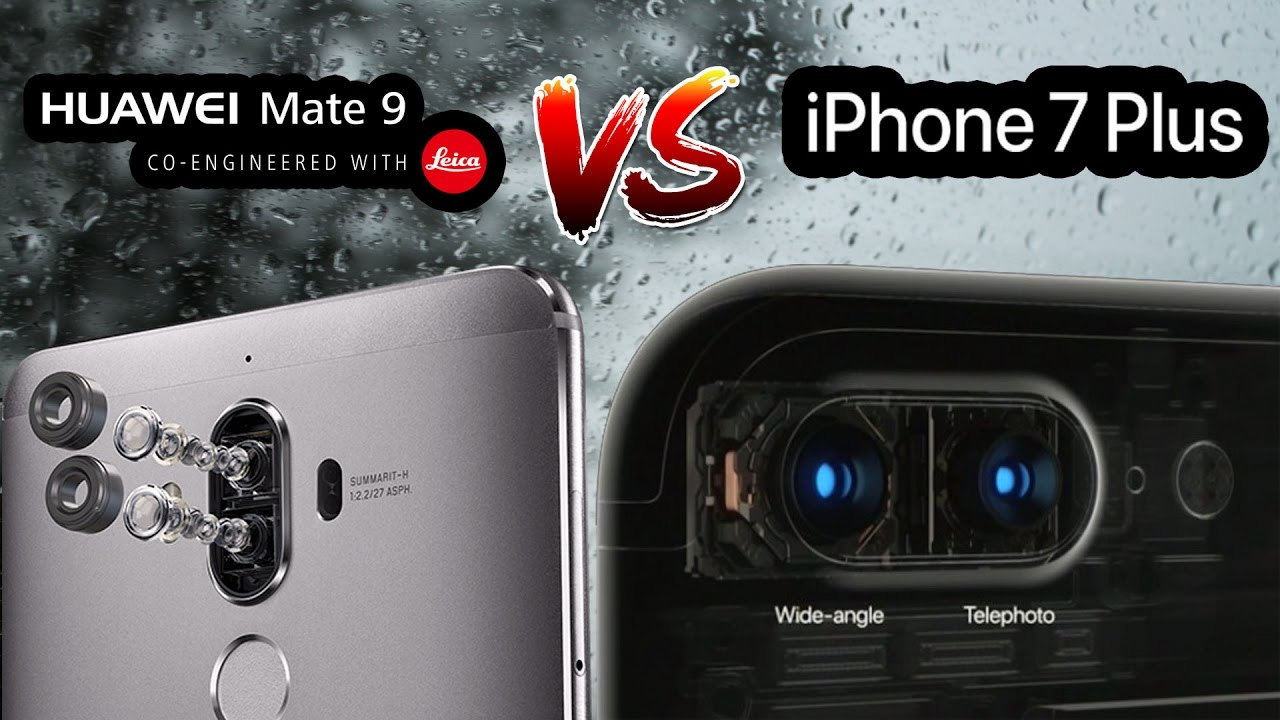 huawei mate 9 vs iphone 7 plus camera