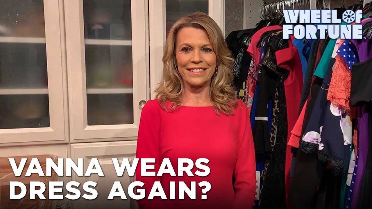 Vanna Wears the Same Dress for the First Time in Wheel History | Wheel of Fortune