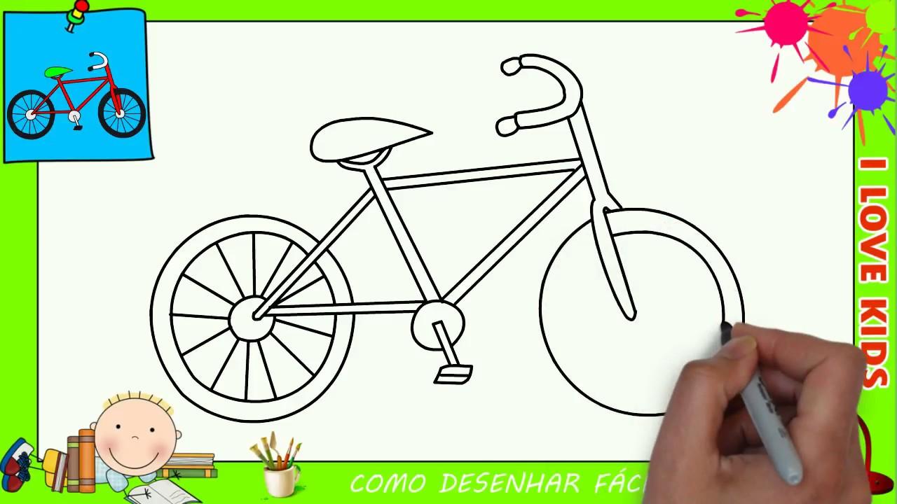 Como Desenhar Uma Bicicleta Facil Passo A Passo Para Criancas E