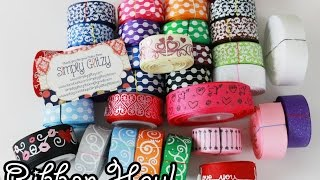 Ribbon Haul from Simply Glitzy Ribbon (Valentines collection+more)(My ribbon friends keep me supplied with the most awesome ribbon prints :) Like what you see? Want to buy some? Visit Simply Glitzy: ..., 2015-01-11T02:44:40.000Z)