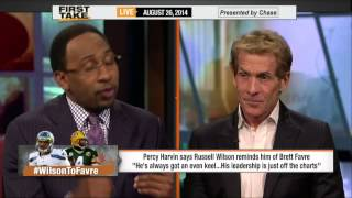 First Take - Russell Wilson Compared to Brett Favre