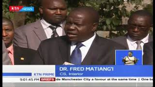 Dr. Fred Matiang'I apologises to Kenya over \'rote at NTSA\'