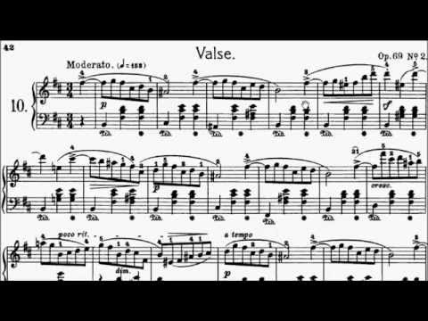 ABRSM Piano 2015-2016 Grade 8 C:3 C3 Chopin Waltz in B Minor Op.69 No.2 Sheet Music
