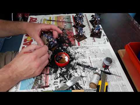 Tutorial on basing your miniatures and how I do flags
