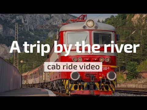 Cab Ride Bulgaria 🛤️ A trip by the river 🏞️ Sofia - Lakatnik (BDZ Škoda 44 140 & train 20215)