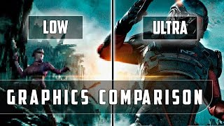 Mass Effect Andromeda - PC - Low vs Ultra detailed Graphics Comparison