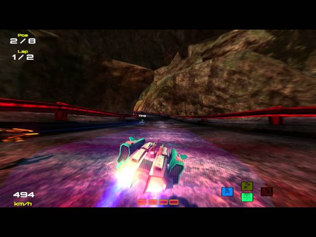 Hyperdrive 3D - Volcano Track Gameplay