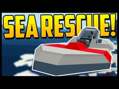 BUILD YOUR OWN SEA RESCUE! | Scrap Mechanic At Sea?! | Stormworks: Build and Rescue - Gameplay
