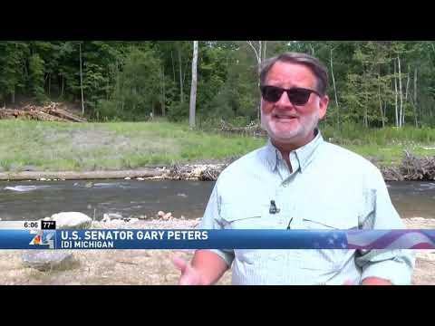 WPBN: Senator Peters Views Progress Of Boardman River Project, Touts GLRI