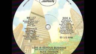 "Alfie Davison - Love Is Serious Business (1979) 12"" vinyl"
