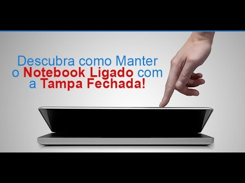 🔴 Como deixa a tampa do Notebook fechada com ele em funcionamento