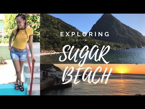 MOST BEAUTIFUL BEACH   TRAVEL VLOG   Saint Lucia EXPLORING SUGAR BEACH
