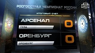 Обзор матча: Футбол. Наш Футбол РФПЛ. 4-й тур. Арсенал - Оренбург 0:0