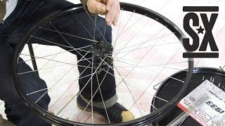 Cпицовка Колеса и Установка Дискового Тормоза - Wheel Build & Brake Rotor Installation