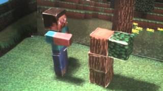Minecraft papercraft stop motion adventure - Episode 1 - Spawning