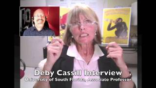 USF Prof Deby Cassill on a man