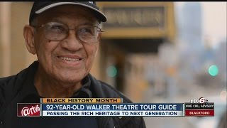 Tour guide, 92, passes heritage of Madame Walker Theatre onto next generation