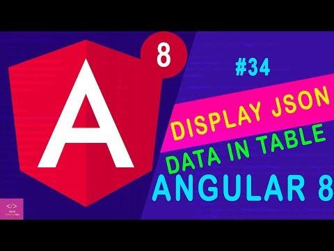 🔥Display JSON  Data in Table -  angular 8 [Tutorial - 34] thumbnail