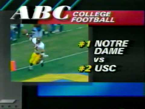 1988 Commercial - ABC - College Football - Notre Dame vs USC