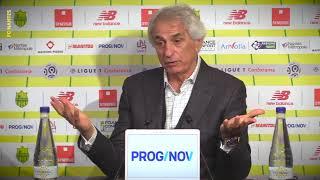 Vahid Halilhodzic avant FC Nantes - Paris SG