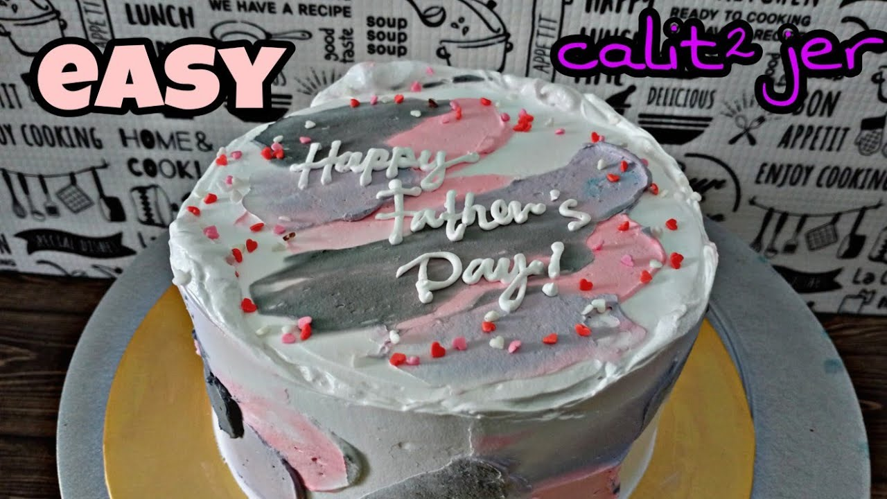 Father S Day Cake Tutorial Deco Kek Calit Simple And Kreative Youtube