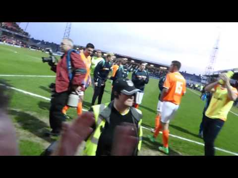 Braintree Town Final Whistle Celebrations At Grimsby 5th May 16