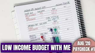 LOW INCOME BIWEEKLY BUDGET WITH ME: August Paycheck to Paycheck Budget # 1 | KeAmber Vaughn