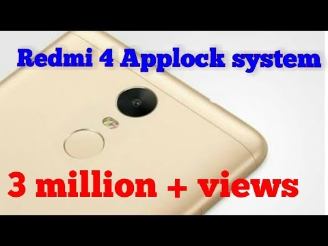 How To Set App Lock In Redmi 4. Pattern And Password To Protect Your App.