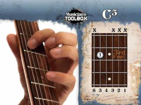 How to play the C power chord on guitar C5 - YouTube