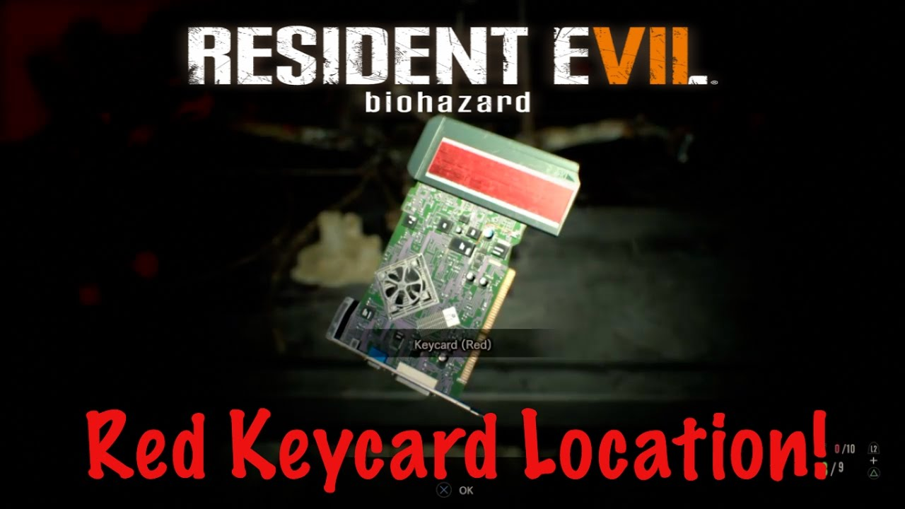 Red Keycard Location Resident Evil 7 Re7 Youtube