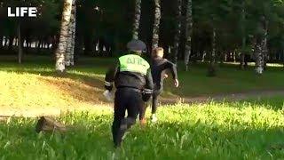 Пьяный водитель пытался сбежать от полицейских