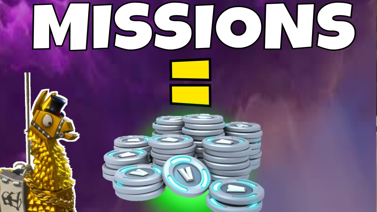 *EASY* V BUCKS   HOW TO GET V BUCKS FROM MISSIONS ...