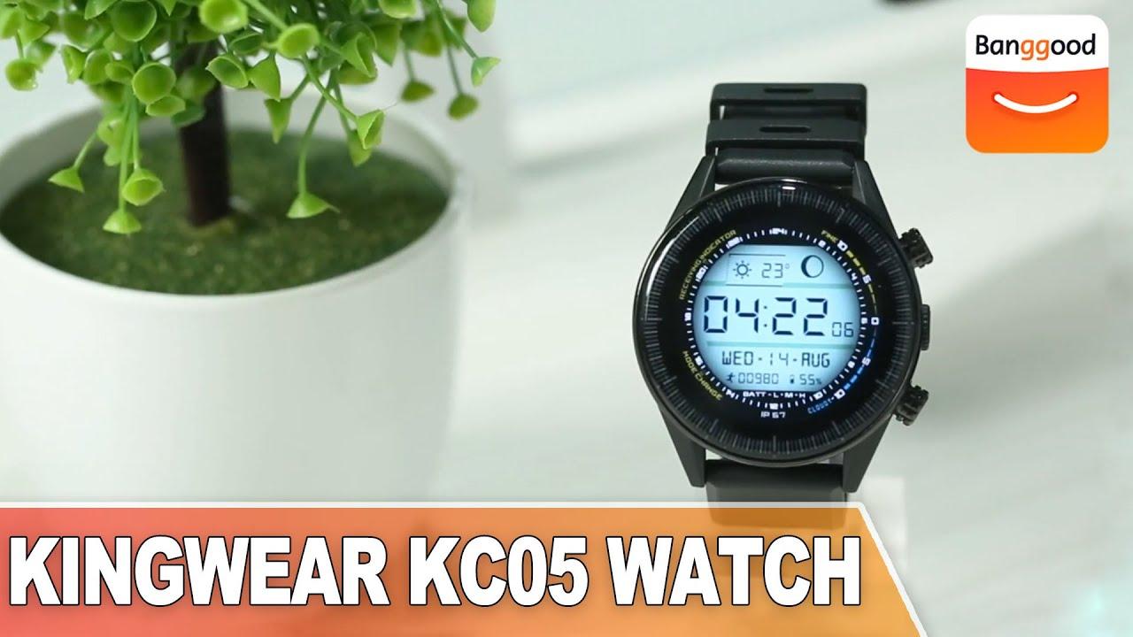 KINGWEAR KC05 4G 8MP Camera IP67 Waterproof WIFI GPS Detachable Strap Smart  Watch Phone