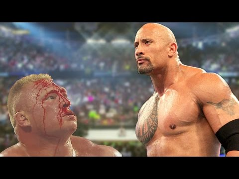 The Rock Vs Brock Lesnar WWE Summerslam 2002