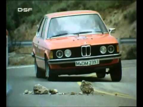 BMW E21 in 1979 ad for driver training and road safety