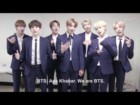 BTS say hello for wings tour in Jakarta Indonesia