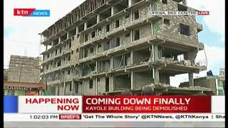 Authorities pounce on a condemned kayole building demolishing it because of irregularities