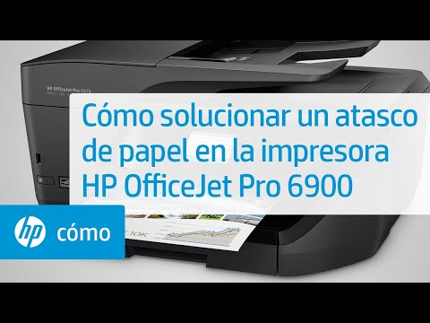 Cómo solucionar un atasco de papel en la impresora HP OfficeJet Pro 6900 | HP OfficeJet | HP