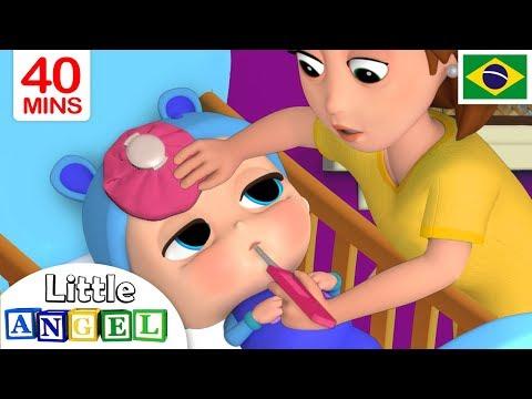 O Bebê está Dodói! | + Vídeos Infantis do Little Angel Português